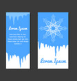 set of winter template with place for text for vector image vector image