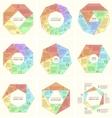 set polygonal infographic diagram vector image