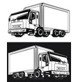 silhouette delivery truck logistic cargo box vector image