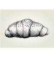 Sketch of a croissant vector image vector image