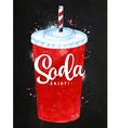 Soda chalk vector image vector image