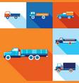 truck cars icon set modern flat design style vector image vector image