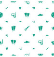 underwater icons pattern seamless white background vector image vector image
