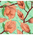Vintage seamless pattern with magnolia flowers