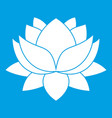 water lily flower icon white vector image vector image