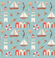 watercolor marine pattern vector image