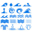 waves and water symbols vector image vector image
