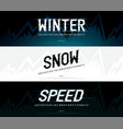 winter snow modern alphabet fonts typography vector image