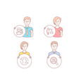 women headhunting face id and algorithm icons vector image