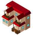 isometric house building on white vector image