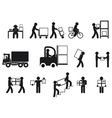 Logistic people pictograms vector image