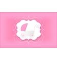 Baby girl Pink stroller for newborn vector image