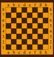 a chessboard yellow and br vector image