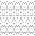 abstract simple pattern of circles monochrome vector image vector image