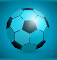 abstract soccer ball 3d blue vector image vector image