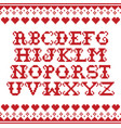 alphabet template knitwear seamless pattern vector image vector image