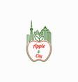 apple city logo template vector image