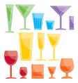 assorted bar glasses vector image vector image