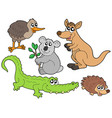 australian animals collection vector image