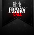 black friday dark sale ribbon label design vector image vector image