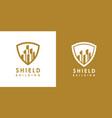 building shield logo design vector image vector image