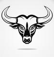 Bulls Head Tattoo Design vector image vector image
