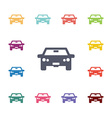 car flat icons set vector image vector image