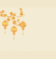 chinese new year stylized for gold the chinese vector image vector image