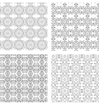 Circular Ornaments Pattern Set vector image vector image