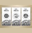 coffee menu design sketch of cup of coffee vector image vector image