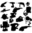 collection of power tool silhouette vector image
