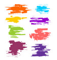 collection of smears with black paint strokes vector image vector image