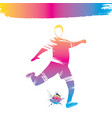 colorful soccer player design vector image