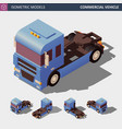 commercial vehicle isometric vector image vector image