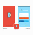 company medical app splash screen and login page vector image