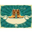 cowboy boots card vector image vector image
