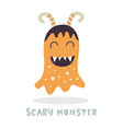 cute halloween monster character vector image