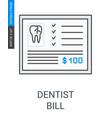 dentist bill icon vector image vector image