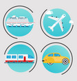 different types of transportation business vector image vector image