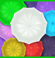different umbrellas top view concept of art vector image vector image