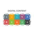 digital content cartoon template with flat vector image vector image