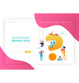 digital marketing technology landing page template vector image vector image