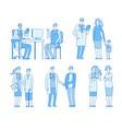 doctor patients doctors nurse talking to man old vector image vector image