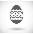 Easter Egg single icon vector image