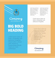 employee business company poster template with vector image vector image