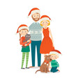 family celebrations portrait happy family at vector image vector image
