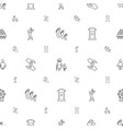 family icons pattern seamless white background vector image vector image