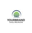 fingerprint tree logo design concept template vector image vector image