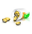 Fish oil capsules vector image