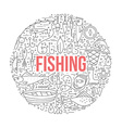 Fishing Design Template vector image